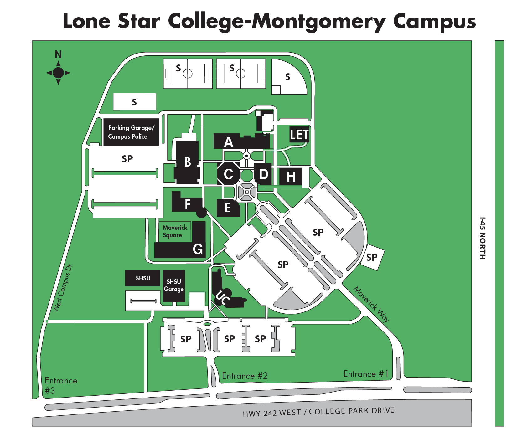 LSC-Montgomery campus map